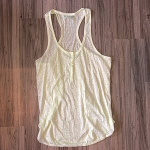 American Eagle Button Racerback Tank Top